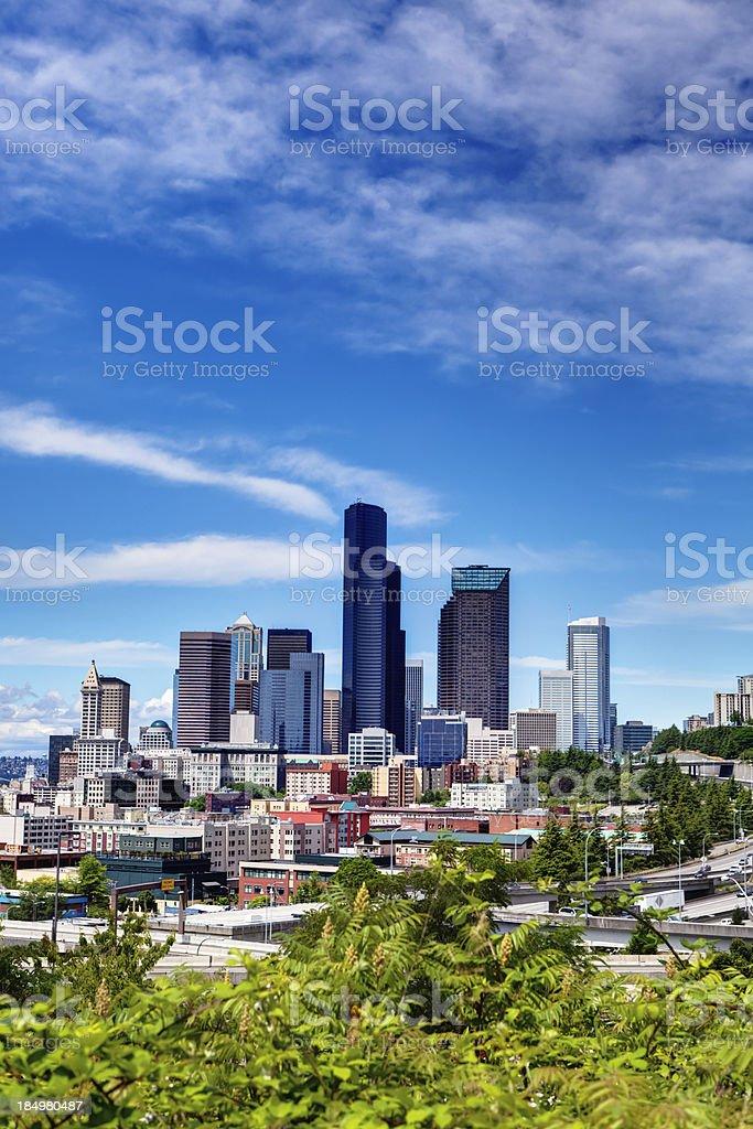 Downtown Seattle Skyline stock photo