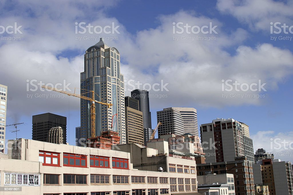 downtown seattle skyline royalty-free stock photo