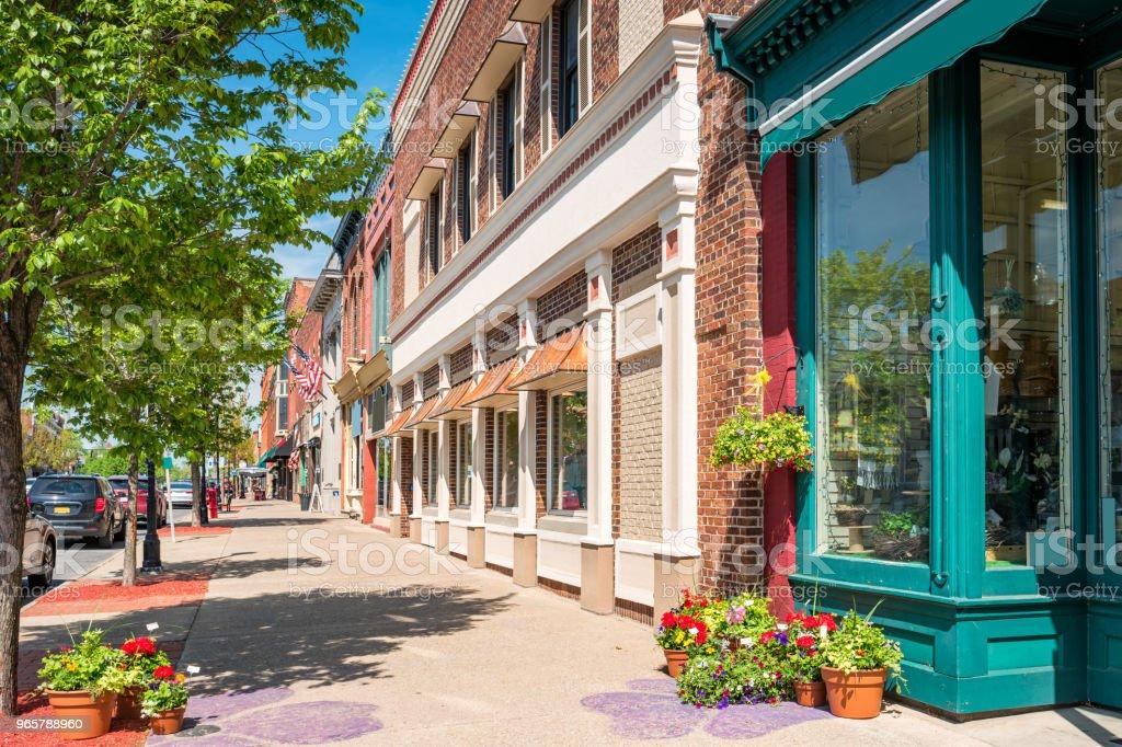 Centrum Seneca Falls Finger Lakes-regio New York State-Verenigde Staten - Royalty-free Bedrijfsleven Stockfoto