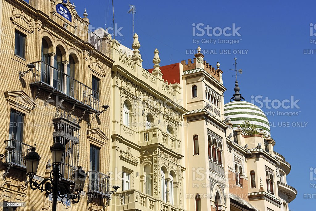 Downtown Seville in Summer royalty-free stock photo