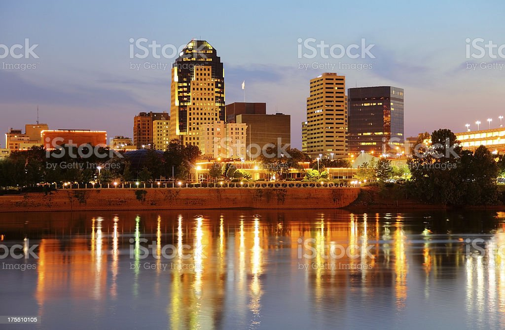 Downtown Shreveport royalty-free stock photo
