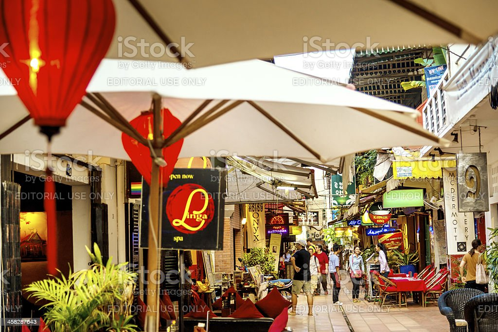 Downtown Siem Reap, Cambodia royalty-free stock photo