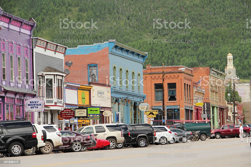 Downtown Silverton Colorado stock photo
