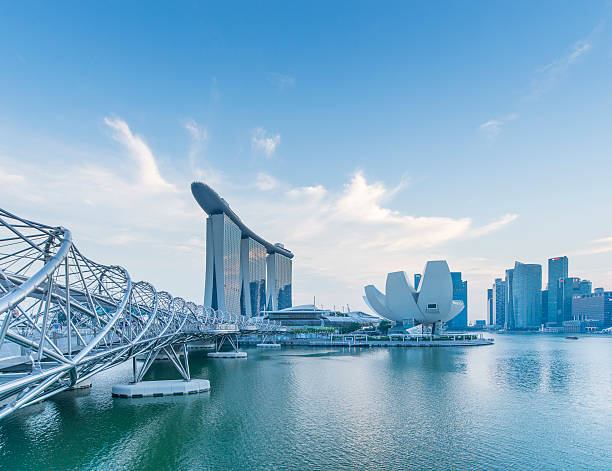 downtown singapore - marina bay sands stock photos and pictures