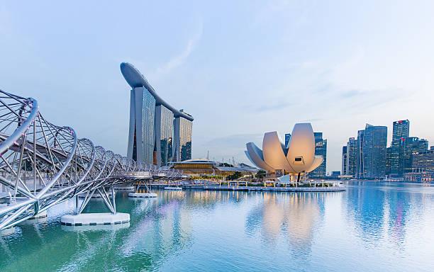 Downtown Singapore stock photo