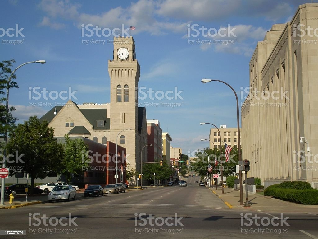 Downtown Sioux City stock photo