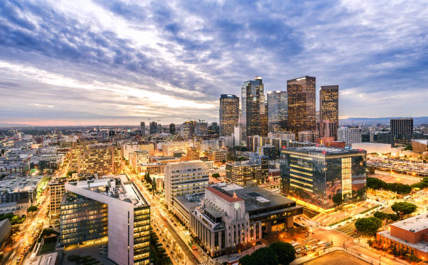 Downtown Skyline at Sunset. Los Angeles, California, USA Downtown Skyline at Sunset. Los Angeles, California, USA city of los angeles stock pictures, royalty-free photos & images