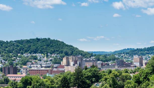 Downtown skyline of Clarksburg in West Virginia stock photo