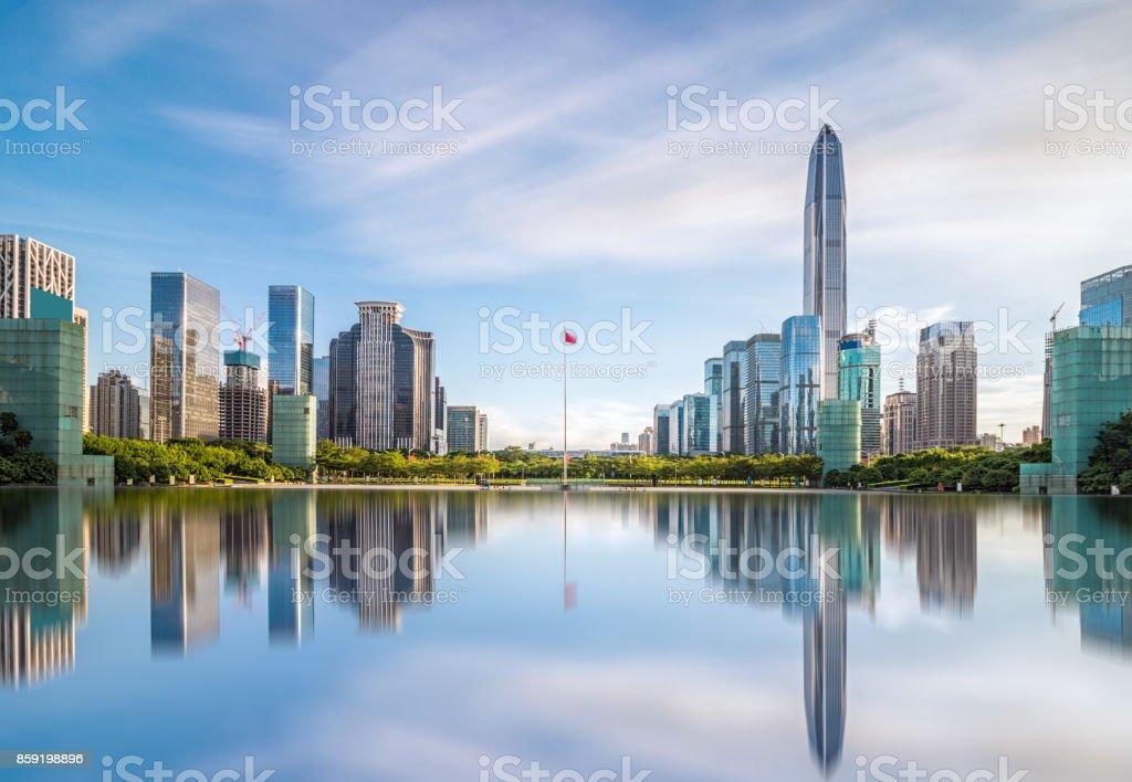 Downtown skyline of Shenzhen stock photo