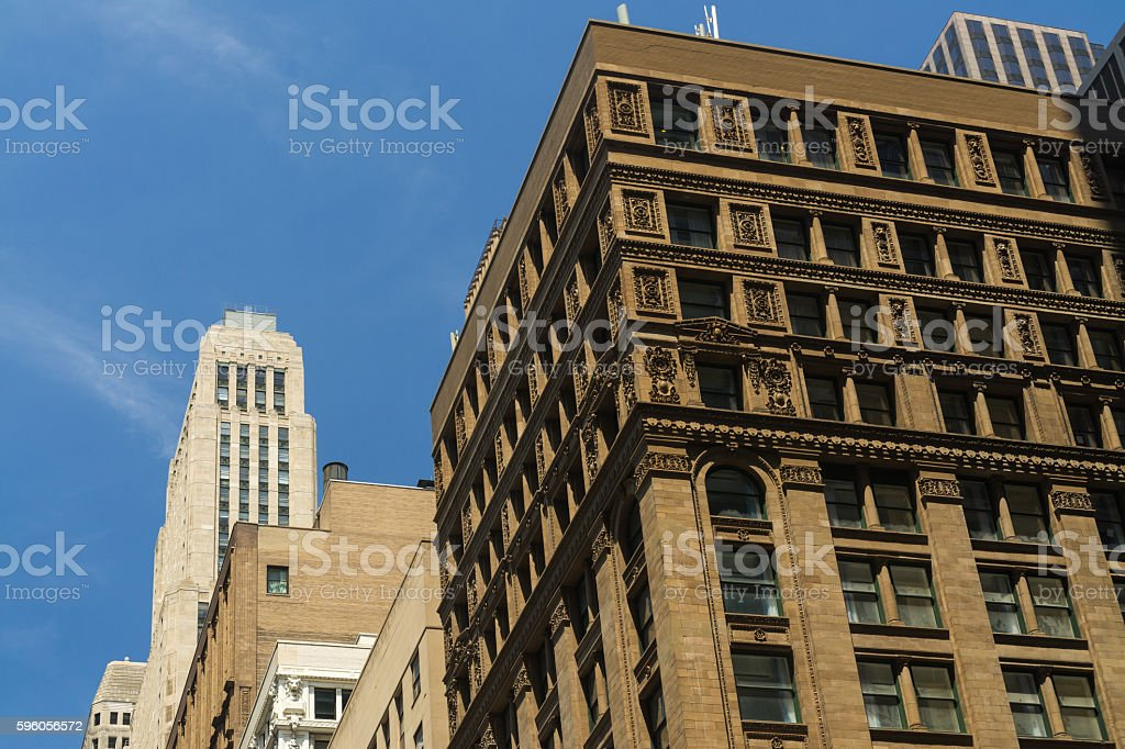 Downtown skyscrapers in the morning light. royalty-free stock photo