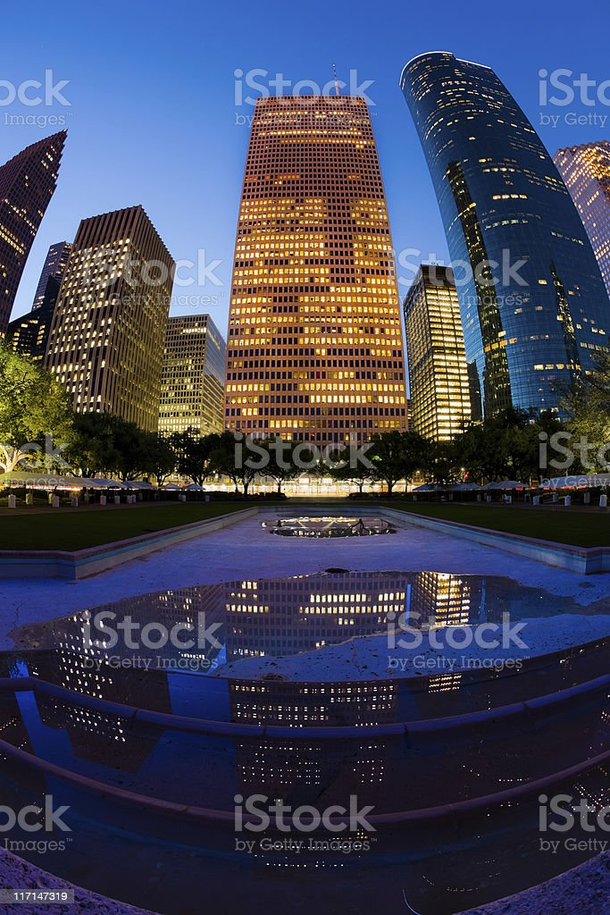 Downtown Skyscrapers royalty-free stock photo