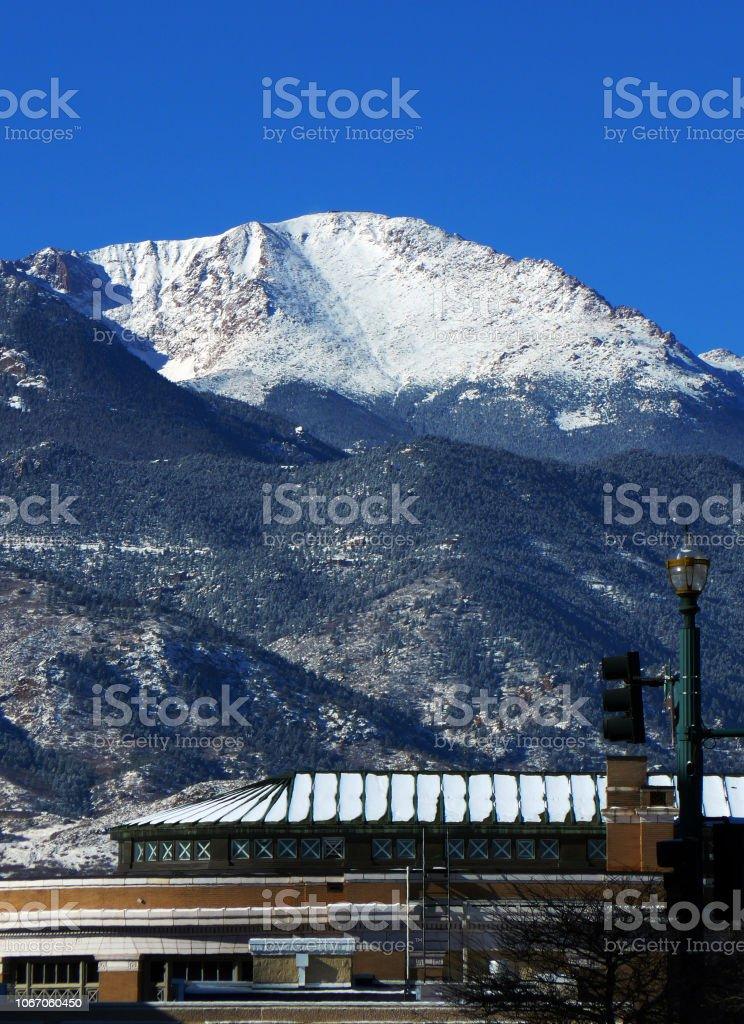 Downtown Snow Peak stock photo