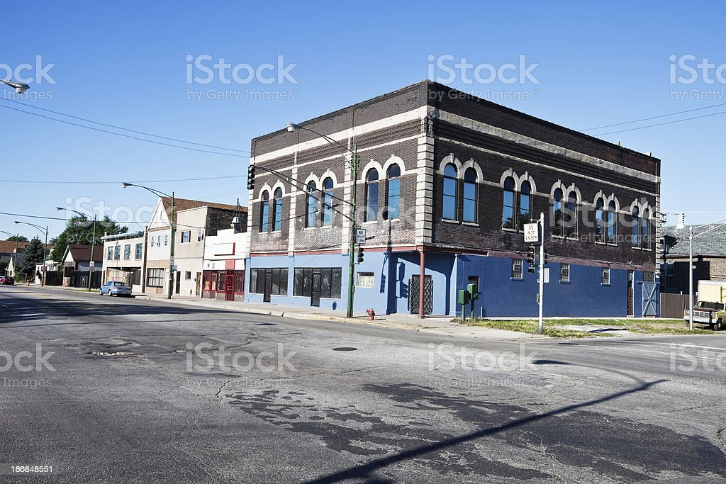 Downtown South Deering, Chicago royalty-free stock photo