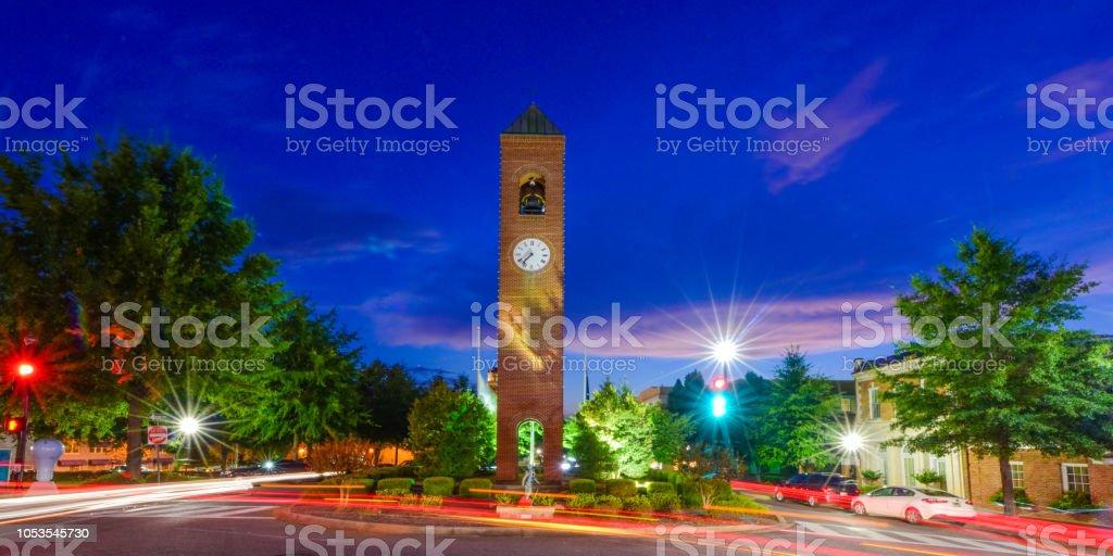 Downtown Spartanburg SC South Carolina stock photo