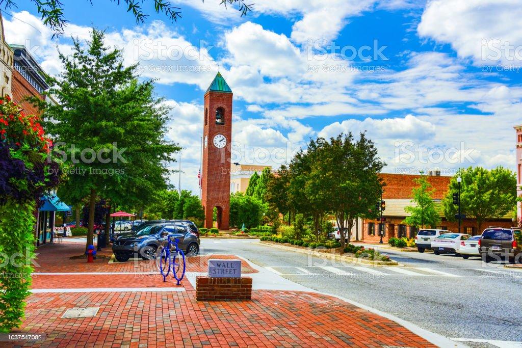 Downtown Spartanburg South Carolina SC stock photo