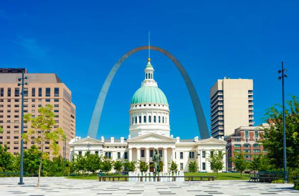 美國密蘇里州聖路易斯市中心 - st louis 個照片及圖片檔