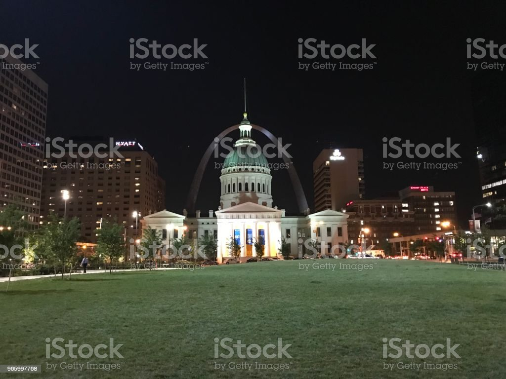 Downtown St. Louis, MO - Royalty-free Arch - Architectural Feature Stock Photo