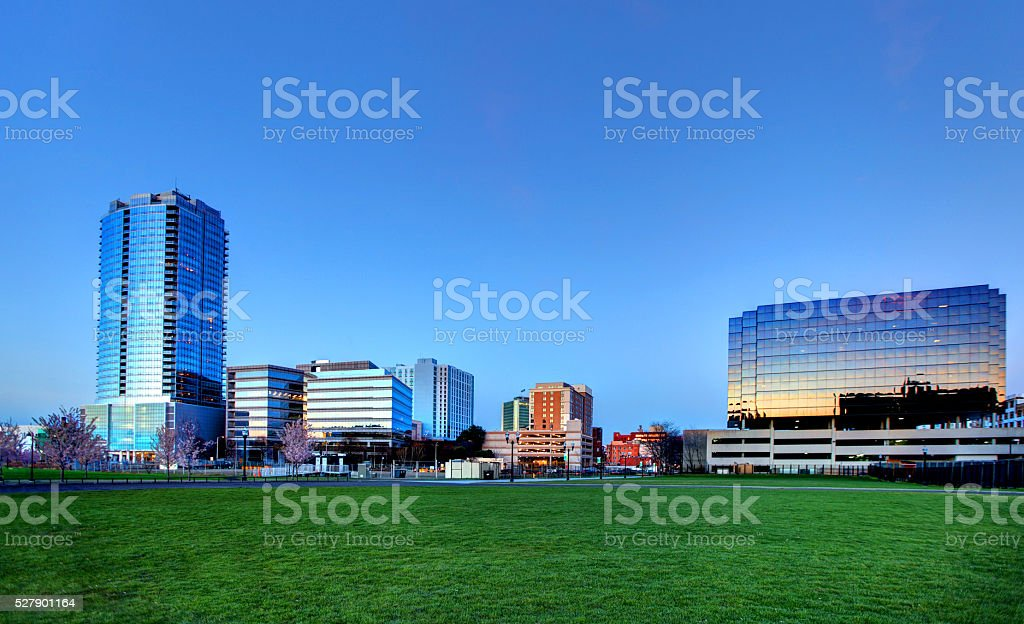 Downtown Stamford, Connecticut Skyline stock photo