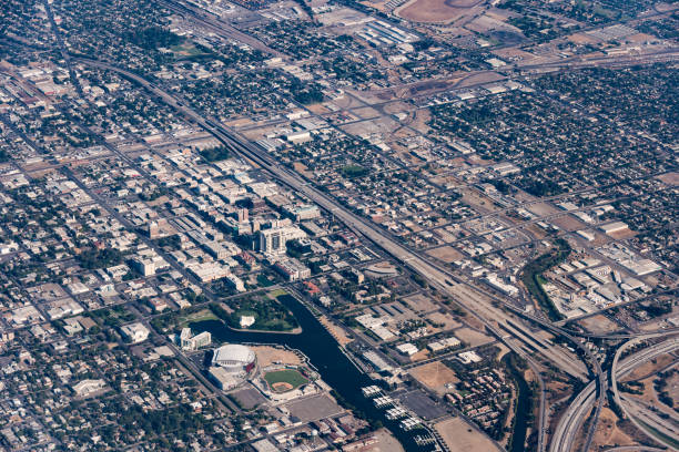 downtown stockton california - dally stock pictures, royalty-free photos & images