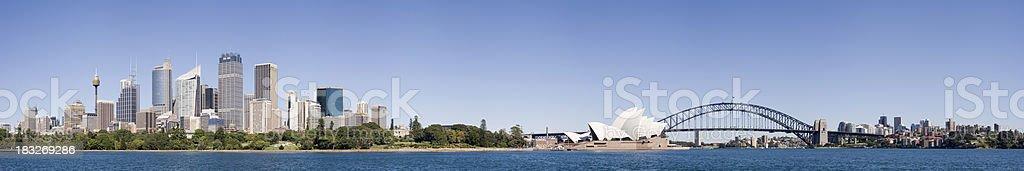 Downtown Sydney City Skyline in Australia royalty-free stock photo