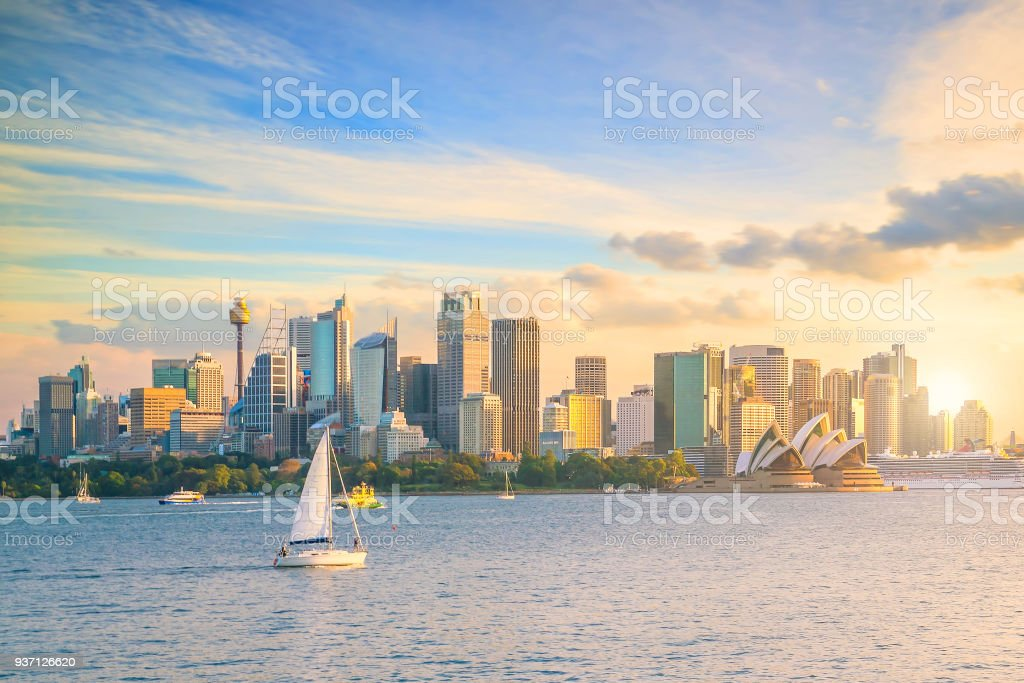 Downtown Sydney skyline stock photo