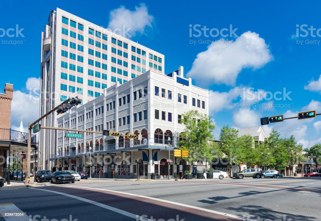 Downtown Tallahassee Florida stock photo
