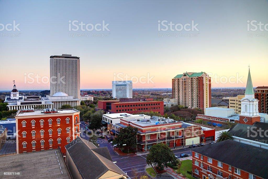 Downtown Tallahassee Florida skyline stock photo