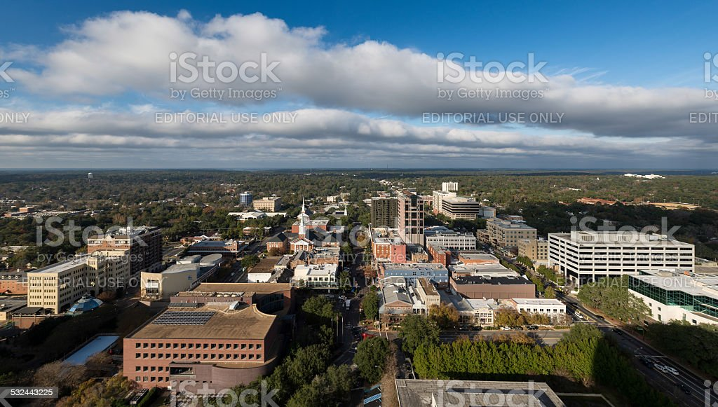 Downtown Tallahassee stock photo