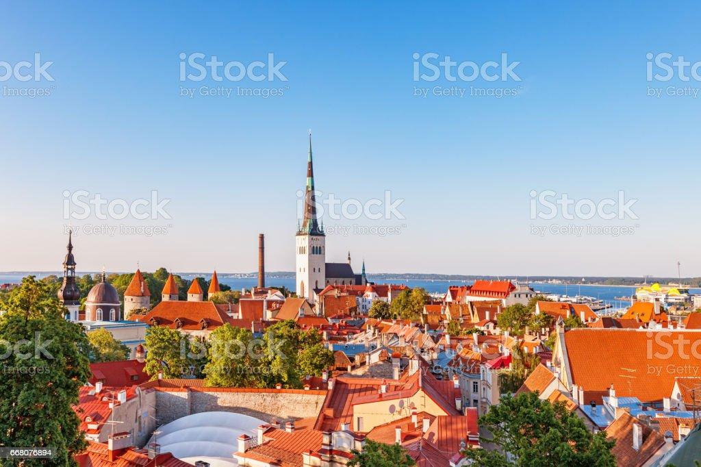 Downtown Tallin Estonia stock photo