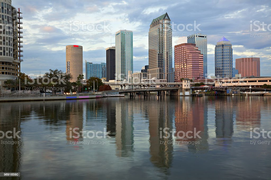 Downtown Tampa and reflections royalty-free stock photo