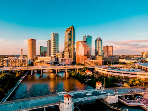 downtown tampa - gulf coast states stock pictures, royalty-free photos & images