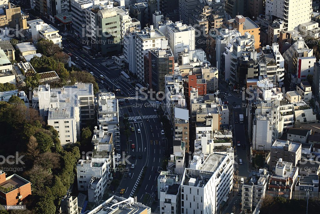 Downtown Tokyo Japan royalty-free stock photo