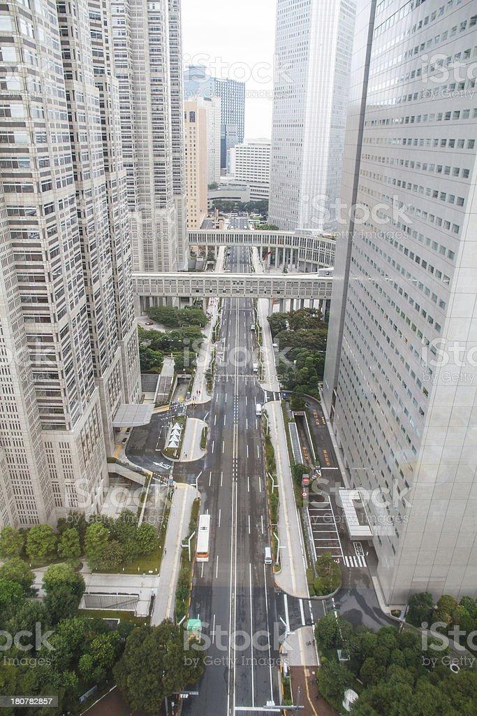 Downtown Tokyo royalty-free stock photo
