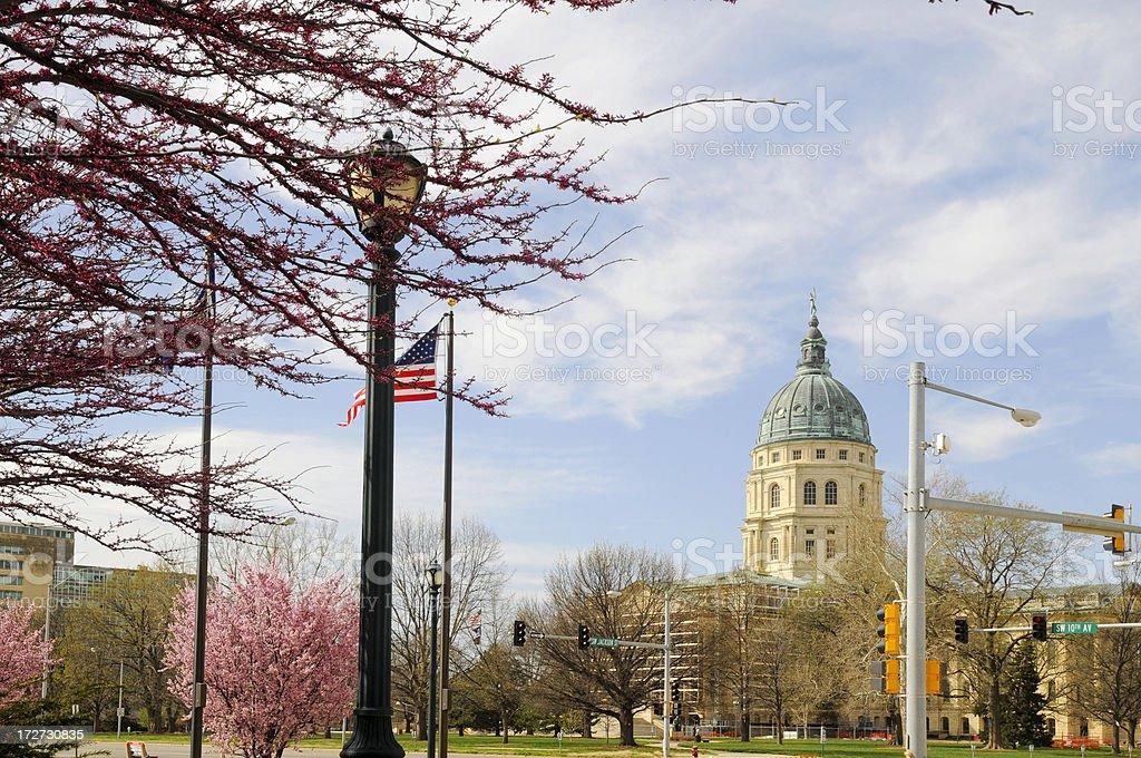 Downtown Topeka royalty-free stock photo