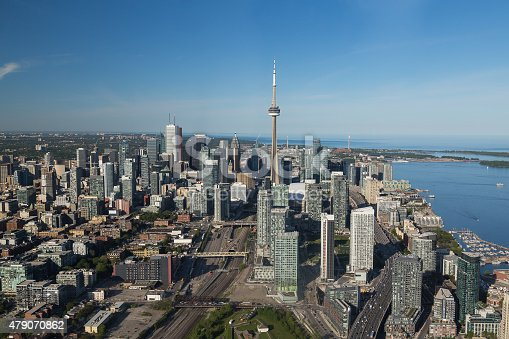 istock Downtown Toronto  from the air 479070862