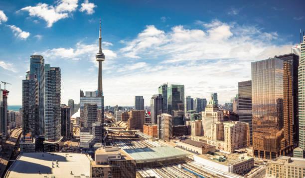 Downtown Toronto skyline panorama stock photo
