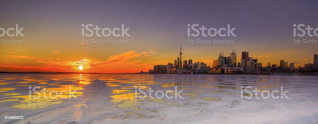 Downtown Toronto Skyline stock photo