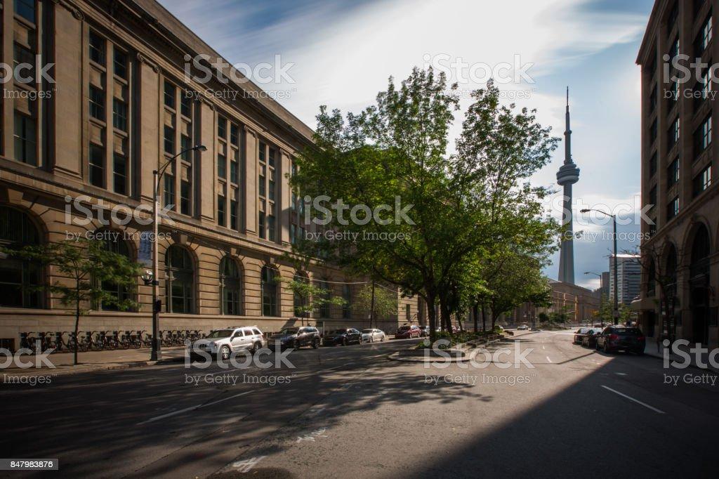 Downtown Toronto - Urban Long Exposure stock photo