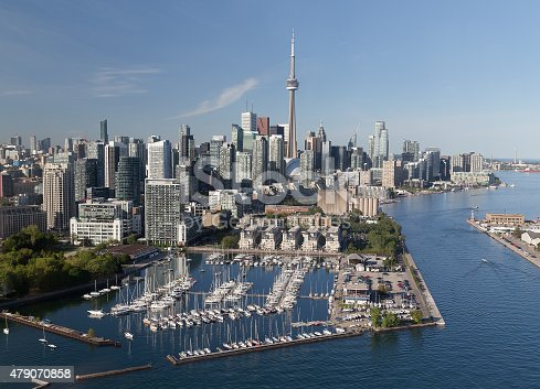 istock Downtown Toronto Viewed from the Air 479070858