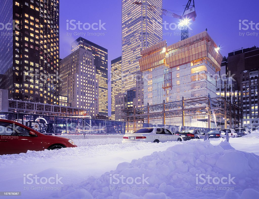 Downtown Toronto with large construction site. royalty-free stock photo