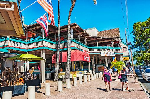 Toeristische Centrum Lahani Op Maui Eiland Stockfoto en meer beelden van Boom