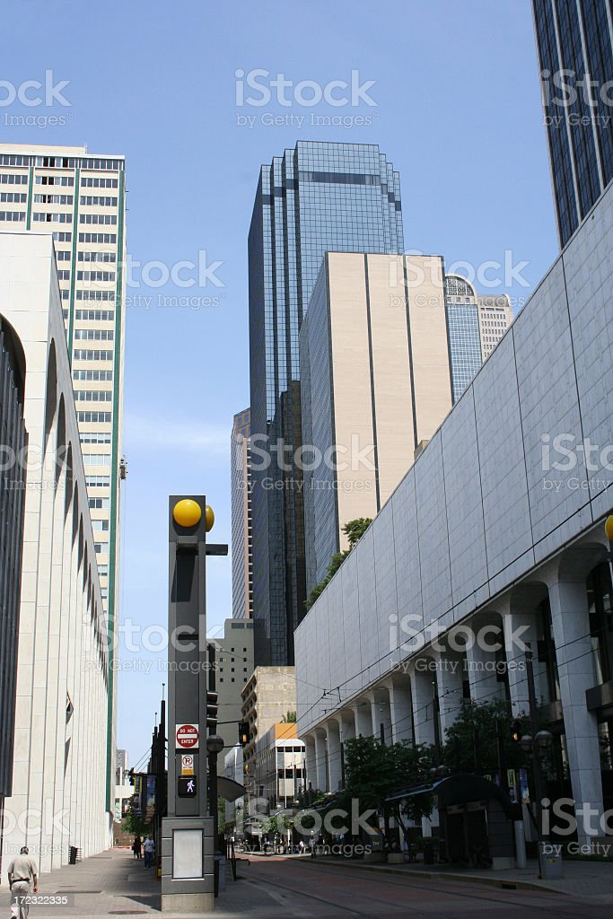 downtown tram station royalty-free stock photo
