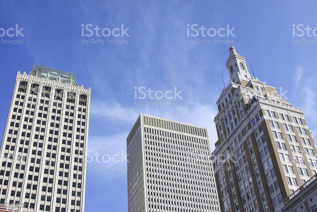 Downtown Tulsa, Oklahoma royalty-free stock photo