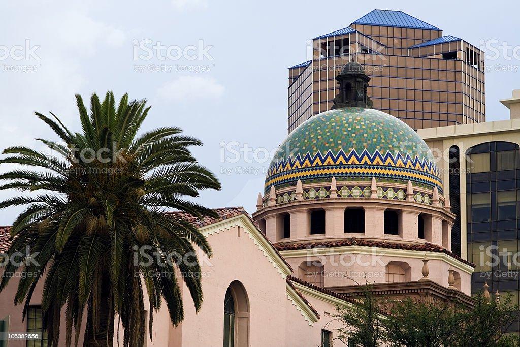 Downtown Tuscon, Arizona, USA royalty-free stock photo