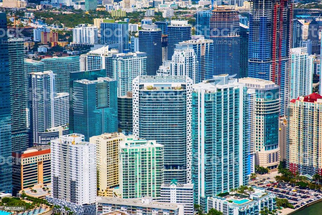 Downtown Urban Background of Miami Florida stock photo