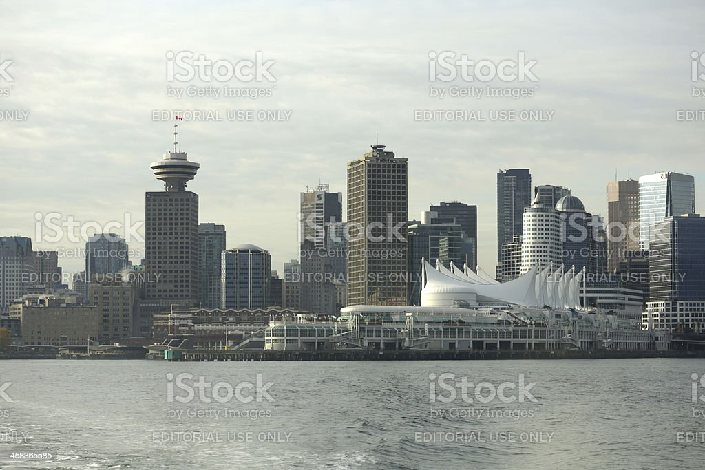 Downtown Vancouver and Waterfront at Burrard Inlet, Canada in Autumn royalty-free stock photo