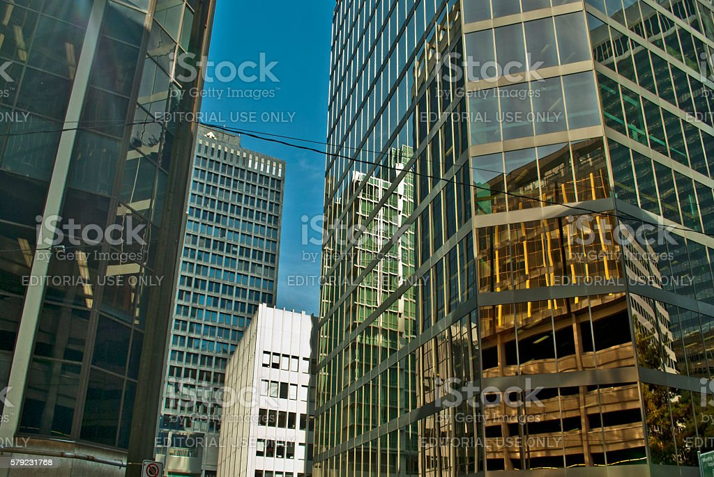 Downtown Vancouver buildings stock photo