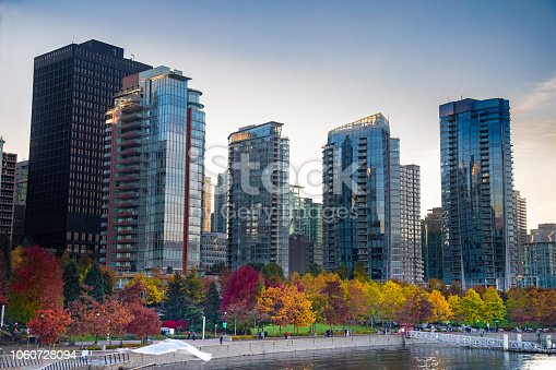 istock Downtown Vancouver Canada with fall changing colors 1060728094