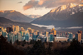 istock Downtown Vancouver cityscape from Queen Elizabeth Park at winter 1157634917