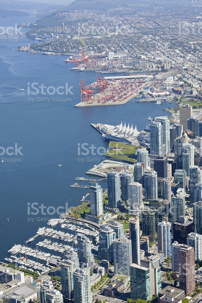 Downtown Vancouver stock photo